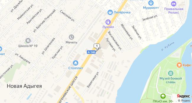Арендовать торговую площадь 6516 м<sup>2</sup> в Майкопе по адресу Россия, Республика Адыгея, Тахтамукайский район, аул Новая Адыгея, Тургеневское шоссе, 8