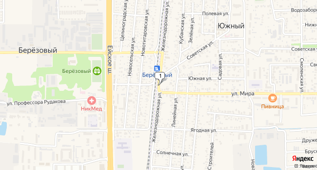 Купить коммерческую недвижимость 770 м<sup>2</sup> в посёлке Южный по адресу Россия, Краснодарский край, Динской район, поселок Южный, Железнодорожная улица
