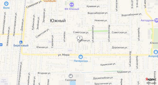 Купить коммерческую недвижимость 215 м<sup>2</sup> в посёлке Южный по адресу Россия, Краснодарский край, Динской район, поселок Южный, Алма-Атинская улица, 1