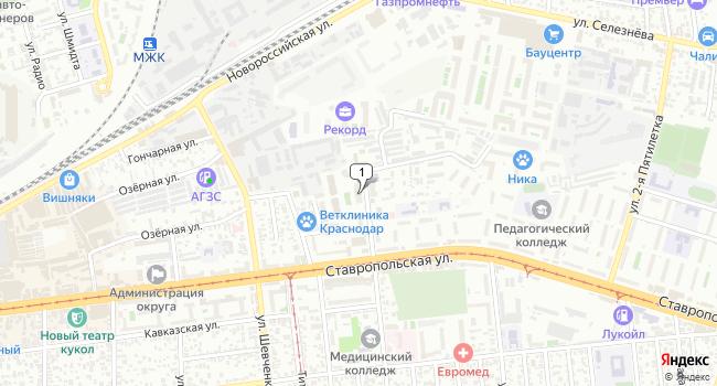 Арендовать коммерческую недвижимость 47 м<sup>2</sup> в Краснодаре по адресу Россия, Краснодар, микрорайон Черемушки, Таманская улица, 153к1