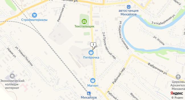 Купить торговую площадь 400 м<sup>2</sup> в Михайлове по адресу Россия, Рязанская область, Михайлов, улица Тружениц