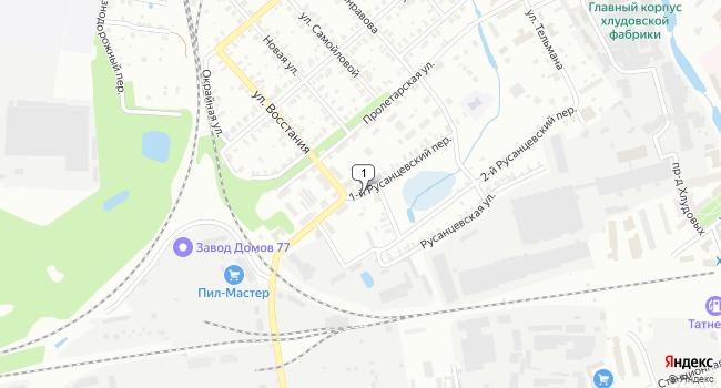 Арендовать склад 3000 м<sup>2</sup> в Егорьевску по адресу Россия, Московская область, Егорьевск, 1-й Русанцевский переулок