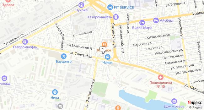 Арендовать коммерческую недвижимость 207 м<sup>2</sup> в Краснодаре по адресу Россия, Краснодар, микрорайон Хлопчато-бумажный Комбинат, улица Васнецова, 1