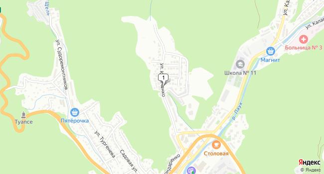 Купить земельный участок 1500 м<sup>2</sup> в Туапсе по адресу Россия, Краснодарский край, Туапсе, улица Кириченко