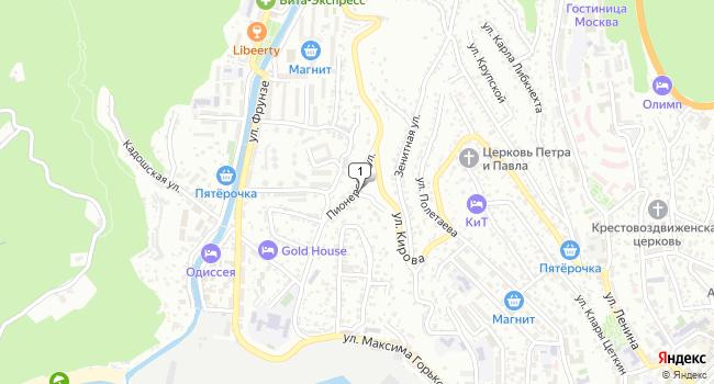 Купить земельный участок 600 м<sup>2</sup> в Туапсе по адресу Россия, Краснодарский край, Туапсе, Пионерская улица