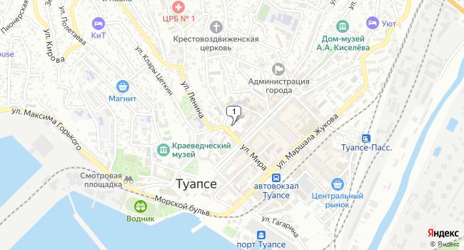 Арендовать офис 50 м<sup>2</sup> в Туапсе по адресу Россия, Краснодарский край, Туапсе, улица Тельмана, 7