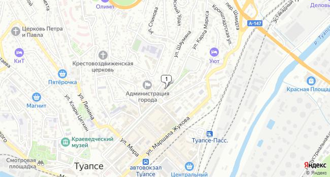 Купить коммерческую недвижимость 143 м<sup>2</sup> в Туапсе по адресу Россия, Краснодарский край, Туапсе, улица Карла Маркса, 29