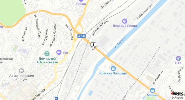 Купить торговую площадь 379 м<sup>2</sup> в Туапсе по адресу Россия, Краснодарский край, Туапсе, Набережная улица, 3Г