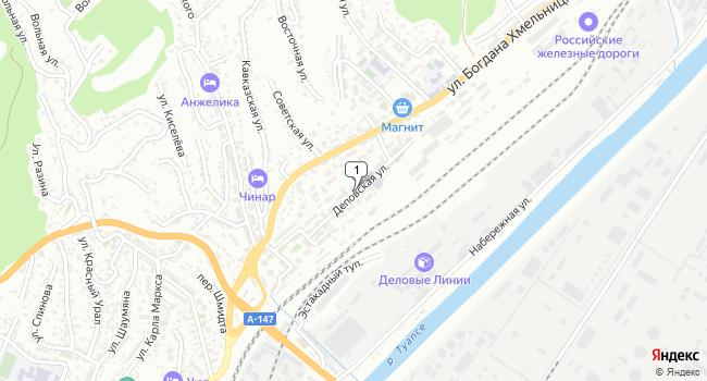Арендовать торговую площадь 110 м<sup>2</sup> в Туапсе по адресу Россия, Краснодарский край, Туапсе, Деповская улица, 21
