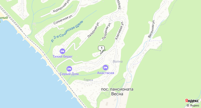 Купить земельный участок 600 м<sup>2</sup> в Туапсе по адресу Россия, Краснодарский край, Туапсе, Ключевая улица