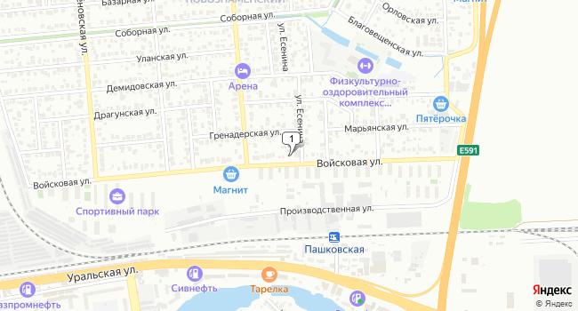 Купить офис 15 м<sup>2</sup> в Краснодаре по адресу Россия, Краснодар, жилой район Новознаменский, улица Есенина, 1