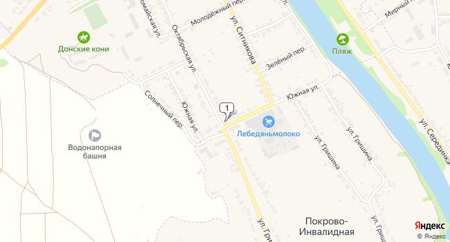 Купить торговую площадь 91 м<sup>2</sup> в Лебедяне по адресу Россия, Липецкая область, Лебедянь, Южная улица, 7