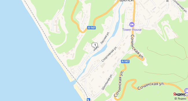 Купить земельный участок 300 м<sup>2</sup> в Туапсе по адресу Россия, Краснодарский край, Туапсинский район, село Шепси