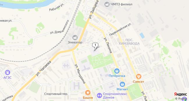 Купить торговую площадь 757 м<sup>2</sup> в Данков по адресу Россия, Липецкая область, Данков, Первомайская улица, 8