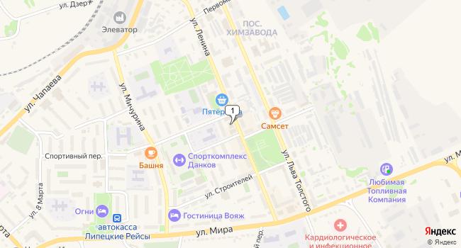 Купить коммерческую недвижимость 477 м<sup>2</sup> в Данков по адресу Россия, Липецкая область, Данков, улица Ленина, 9