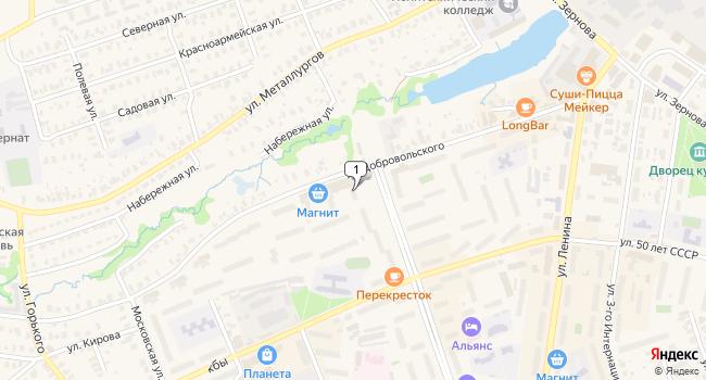 Купить торговую площадь 54 м<sup>2</sup> в Кольчугино по адресу Россия, Владимирская область, Кольчугино, улица Добровольского, 15