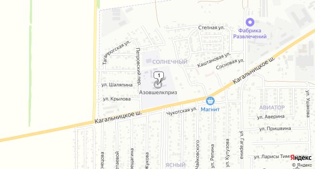 Купить земельный участок 8000 м<sup>2</sup> в Азове по адресу Россия, Ростовская область, Азов, Кагальницкое шоссе, 1