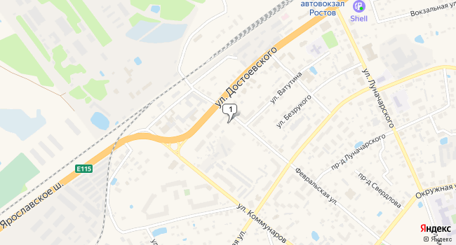 Арендовать торговую площадь 115 м<sup>2</sup> в Ростове по адресу Россия, Ярославская область, Ростов, Февральская улица, 45
