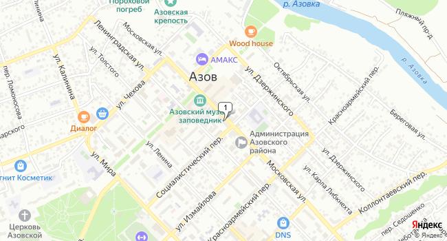 Купить офис 81 м<sup>2</sup> в Азове по адресу Россия, Ростовская область, Азов, Московская улица, 46