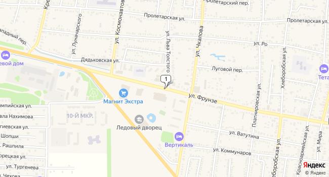 Купить склад 10000 м<sup>2</sup> в Кореновске по адресу Россия, Краснодарский край, Кореновск, улица Фрунзе