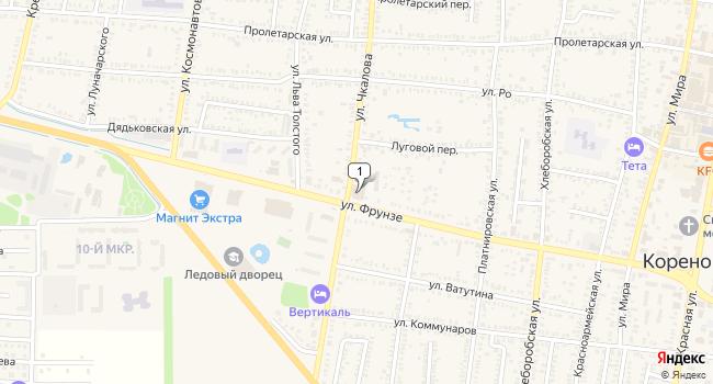Арендовать торговую площадь 1000 м<sup>2</sup> в Кореновске по адресу Россия, Краснодарский край, Кореновск, улица Фрунзе, 189