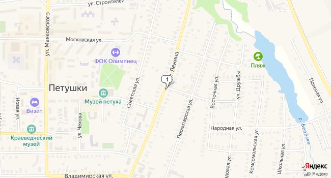 Арендовать офис 140 м<sup>2</sup> в Петушках по адресу Россия, Владимирская область, Петушки, улица Ленина