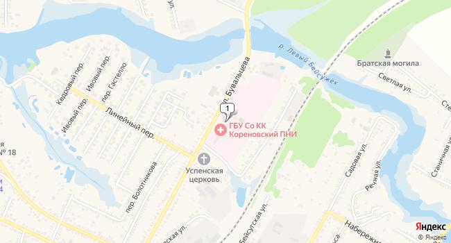 Купить склад 796 м<sup>2</sup> в Кореновске по адресу Россия, Краснодарский край, Кореновск, улица Бувальцева, 87А