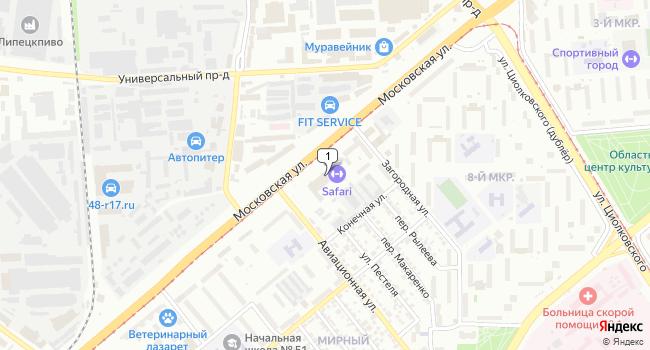 Арендовать офис 16 м<sup>2</sup> в Липецке по адресу Россия, Липецк, переулок Пестеля, 38