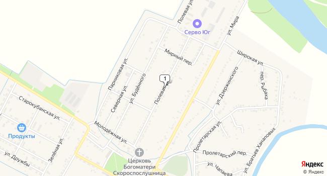 Купить торговую площадь 46296 м<sup>2</sup> в Майкопе по адресу Россия, Республика Адыгея, Красногвардейский район, аул Хатукай, Полевая улица