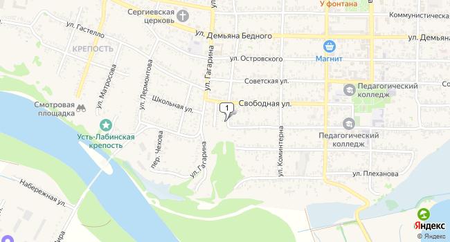 Арендовать коммерческую недвижимость 777 м<sup>2</sup> в Усть-Лабинске по адресу Россия, Краснодарский край, Усть-Лабинск, Революционная улица, 1