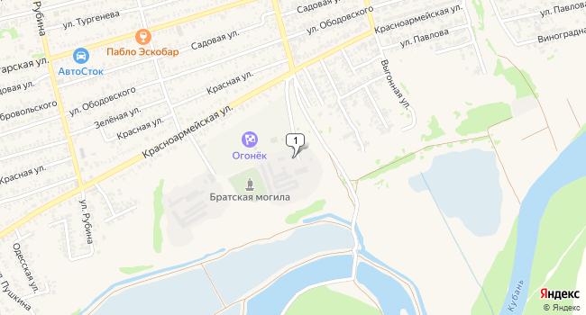 Купить коммерческую недвижимость 1 м<sup>2</sup> в Усть-Лабинске по адресу Россия, Краснодарский край, Усть-Лабинск, Вольная улица, 1