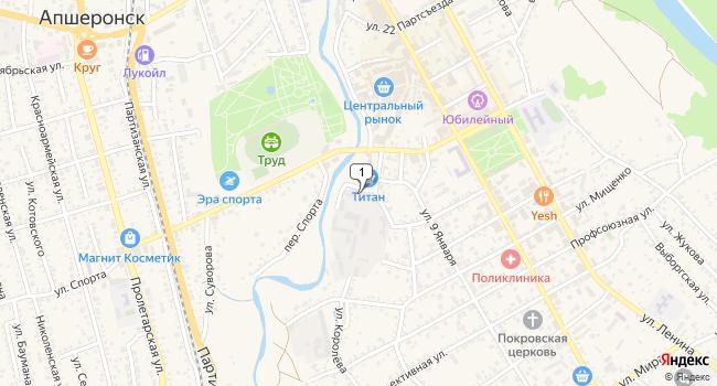 Арендовать офис 15 м<sup>2</sup> в Апшеронске по адресу Россия, Краснодарский край, Апшеронск, улица Королева, 1