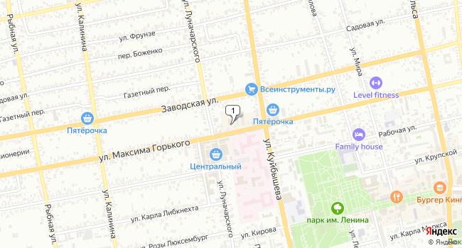 Арендовать офис 54.5 м<sup>2</sup> в Батайске по адресу Россия, Ростовская область, Батайск, улица Максима Горького, 172