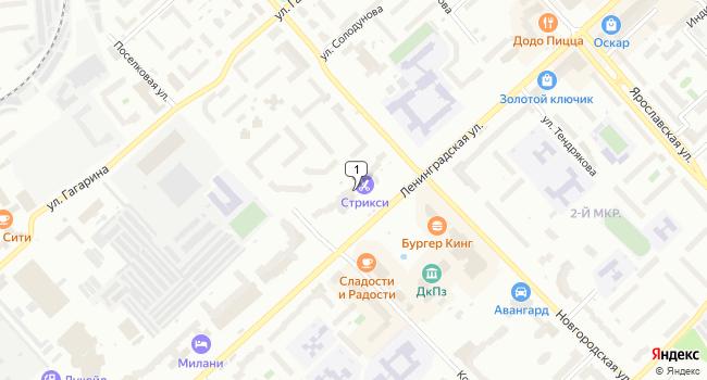 Арендовать торговую площадь 10 м<sup>2</sup> в Вологде по адресу Россия, Вологда, Ленинградская улица, 144