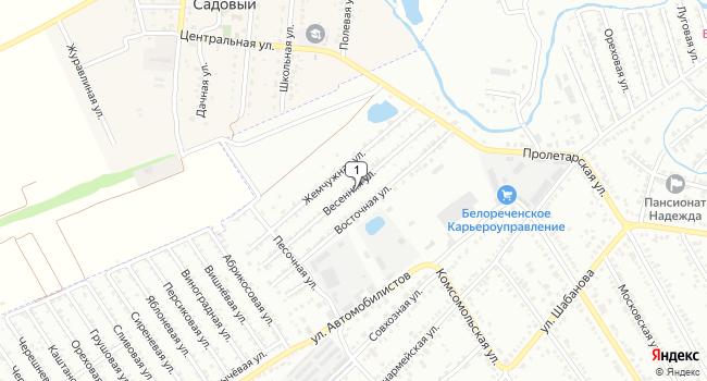 Купить земельный участок 1000 м<sup>2</sup> в Белореченске по адресу Россия, Краснодарский край, Белореченск, Весенняя улица