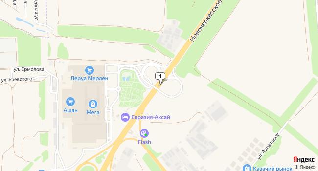 Арендовать склад 1306 м<sup>2</sup> в Аксае по адресу Россия, Ростовская область, Аксай, Новочеркасское шоссе