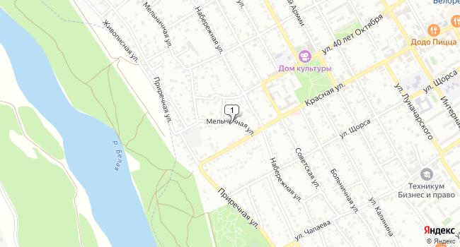 Арендовать коммерческую недвижимость 1148 м<sup>2</sup> в Белореченске по адресу Россия, Краснодарский край, Белореченск, Мельничная улица, 9