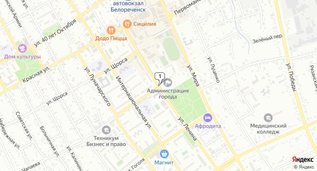 Купить склад 2000 м<sup>2</sup> в Белореченске по адресу Россия, Краснодарский край, Белореченск