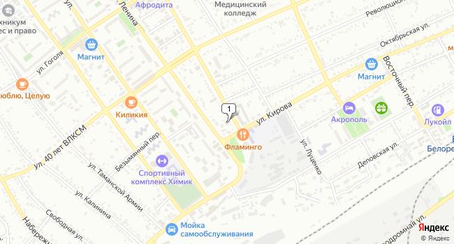Арендовать коммерческую недвижимость 1148 м<sup>2</sup> в Белореченске по адресу Россия, Краснодарский край, Белореченск, улица Мира, 5
