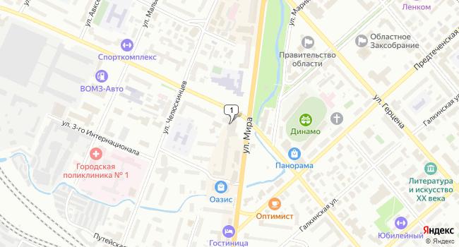 Арендовать офис 20 м<sup>2</sup> в Вологде по адресу Россия, Вологда, улица Чехова, 12