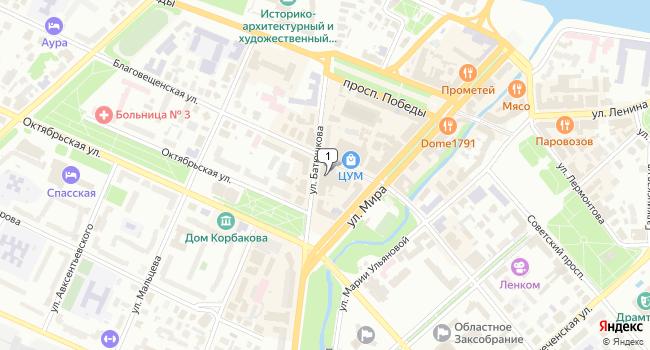 Арендовать офис 132 м<sup>2</sup> в Вологде по адресу Россия, Вологда, улица Батюшкова, 11