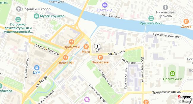 Арендовать офис 18 м<sup>2</sup> в Вологде по адресу Россия, Вологда, улица Ленина, 3