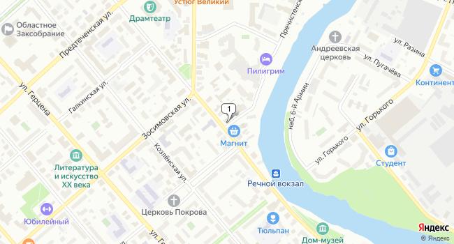 Арендовать офис 17 м<sup>2</sup> в Вологде по адресу Россия, Вологда, Советский проспект, 35