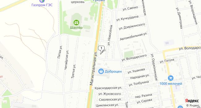 Купить склад 200 м<sup>2</sup> в Гукове по адресу Россия, Ростовская область, Гуково, Магистральная улица, 5