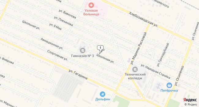 Купить торговую площадь 1548 м<sup>2</sup> в Грязях по адресу Россия, Липецкая область, Грязи, Школьная улица, 21