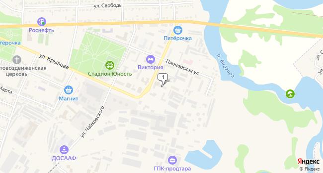 Купить торговую площадь 260 м<sup>2</sup> в Грязях по адресу Россия, Липецкая область, Грязи, Коммунальная улица, 6