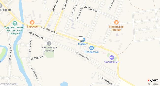 Арендовать склад 562 м<sup>2</sup> в Чаплыгине по адресу Россия, Липецкая область, Чаплыгин, Советская улица, 1