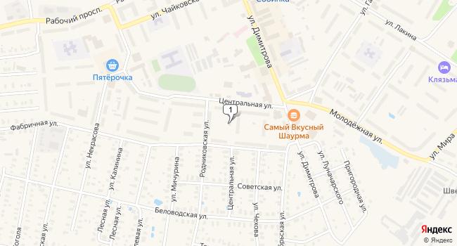 Купить торговую площадь 267 м<sup>2</sup> в Собинке по адресу Россия, Владимирская область, Собинка, Центральная улица, 24А