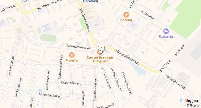 Купить торговую площадь 803 м<sup>2</sup> в Собинке по адресу Россия, Владимирская область, Собинка, улица Димитрова, 20А