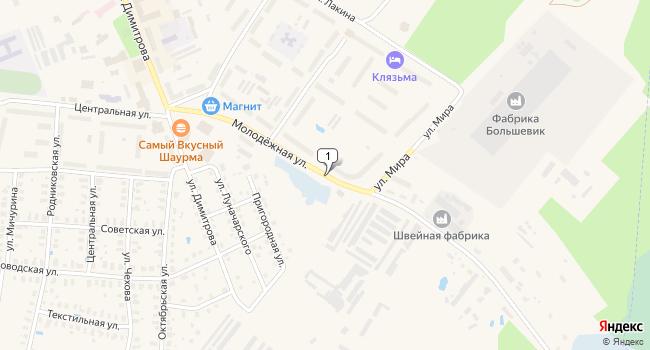 Купить торговую площадь 934 м<sup>2</sup> в Собинке по адресу Россия, Владимирская область, Собинка, Молодежная улица